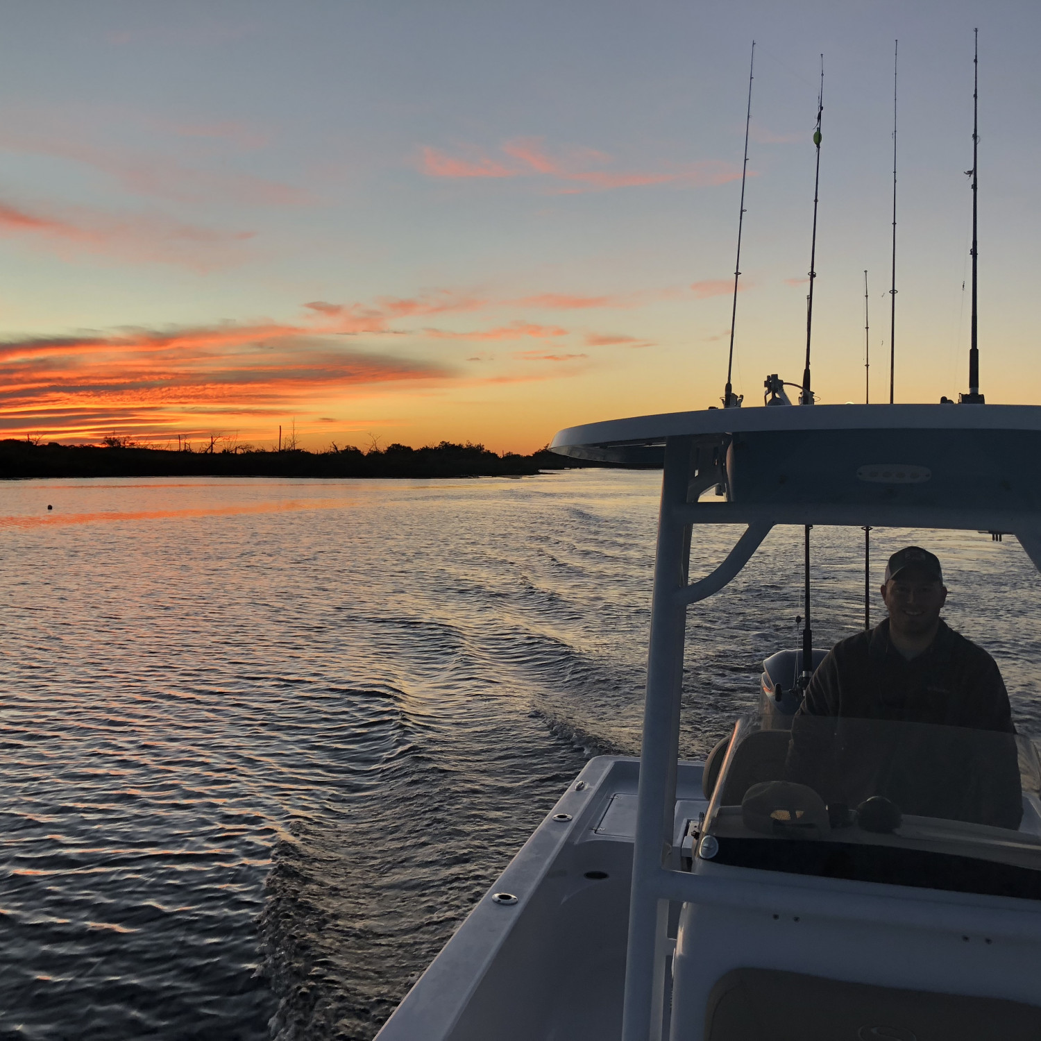 Title: First offshore trip - On board their Sportsman Masters 247 Bay Boat - Location: Homosassa Florida. Participating in the Photo Contest #SportsmanDecember2017