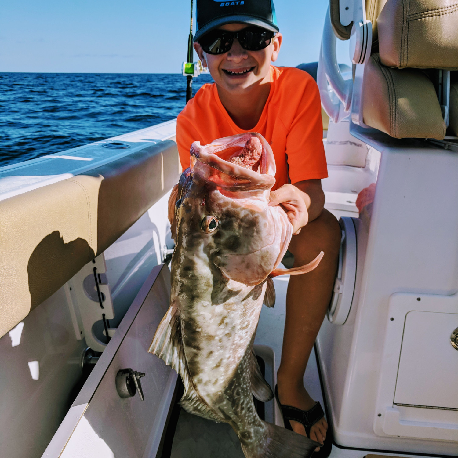 Title: Catching the limit - On board their Sportsman Open 282 Center Console - Location: Cape Coral, Florida. Participating in the Photo Contest #SportsmanDecember2017