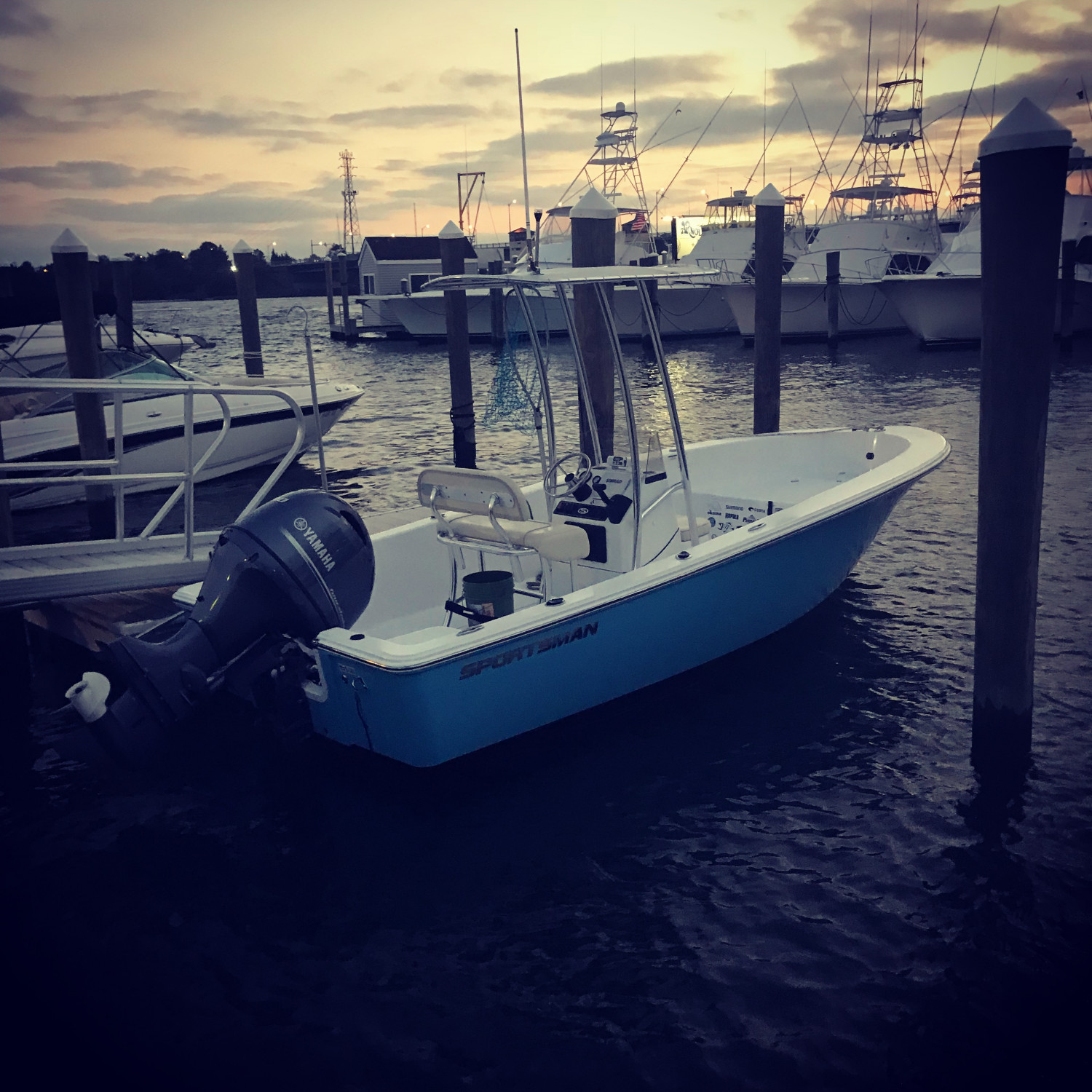 Title: Great sunset on the Manasquan river - On board their Sportsman Island Reef 19 Center Console - Location: Brielle. Participating in the Photo Contest #SportsmanDecember2017