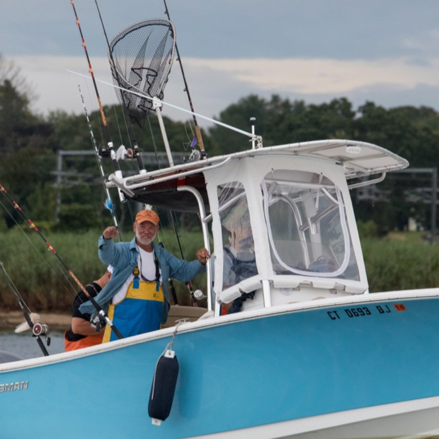 Title: Out for the win!!! - On board their Sportsman Open 232 Center Console - Location: East lyme ct. Participating in the Photo Contest #SportsmanNovember2017