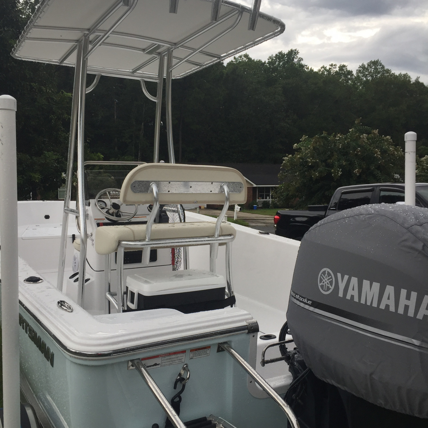 Title: Waiting for the Weekend! - On board their Sportsman Island Reef 19 Center Console - Location: Rincon, GA. Participating in the Photo Contest #SportsmanNovember2017