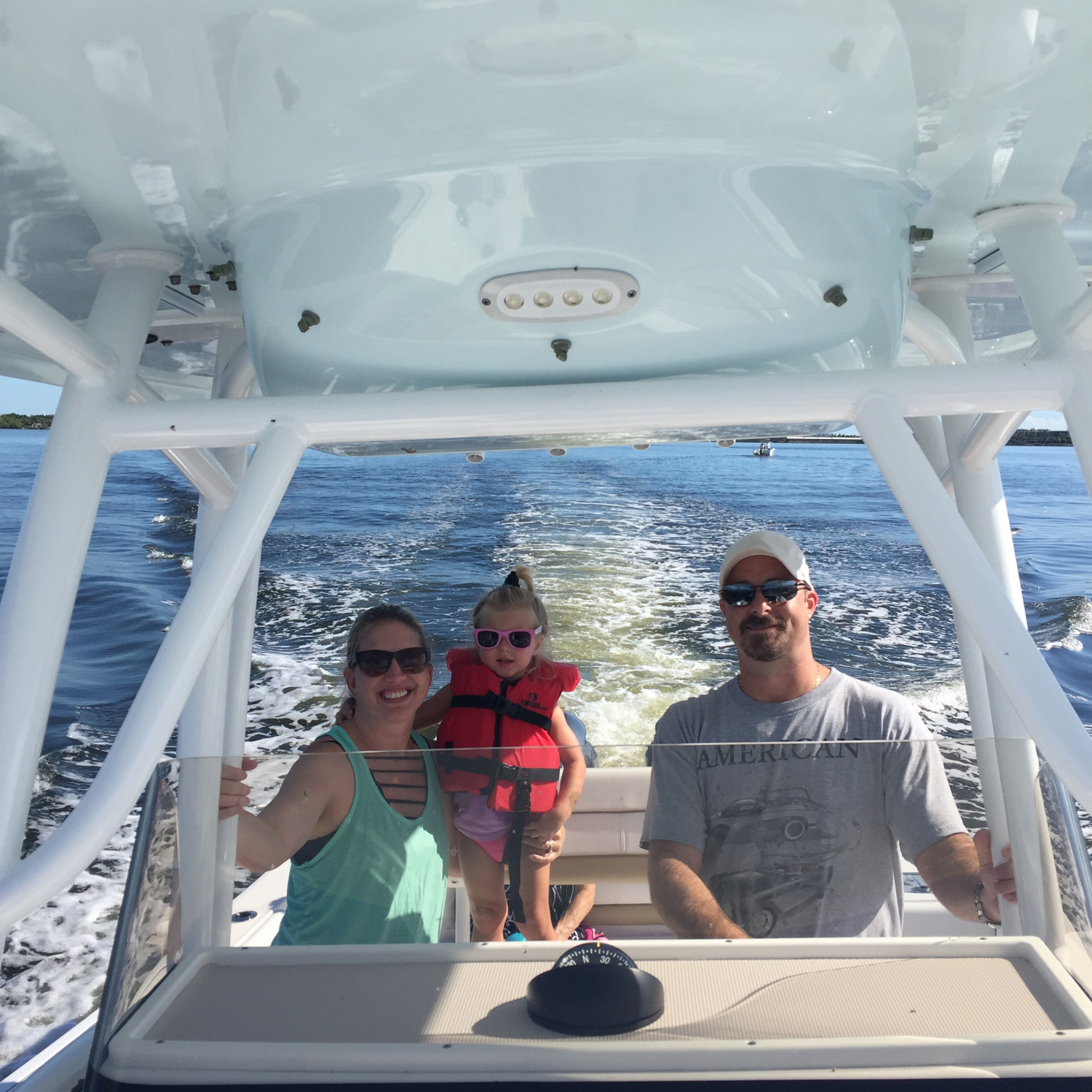 Title: Family time! - On board their Sportsman Heritage 251 Center Console - Location: Palm beach shores, FL. Participating in the Photo Contest #SportsmanNovember2017