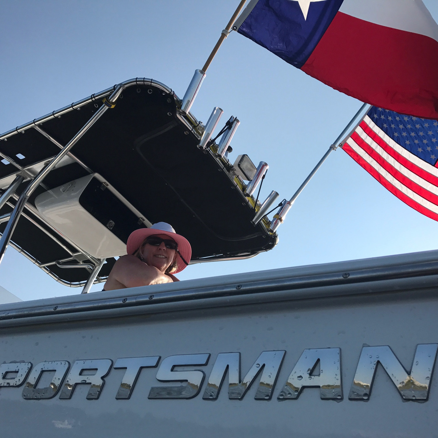 Title: My Two Faves - On board their Sportsman Masters 227 Bay Boat - Location: Clear Lake, Texas. Participating in the Photo Contest #SportsmanNovember2017